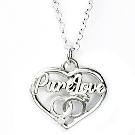 Silver Heart Pure love Pendant